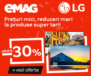 Campanie After BF: Crazy Sale – Televizoare LG, 17-19 noiembrie 2018